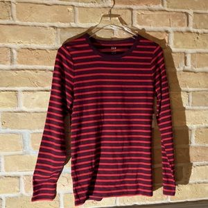 Red and black striped shirt with tags Gap  size L